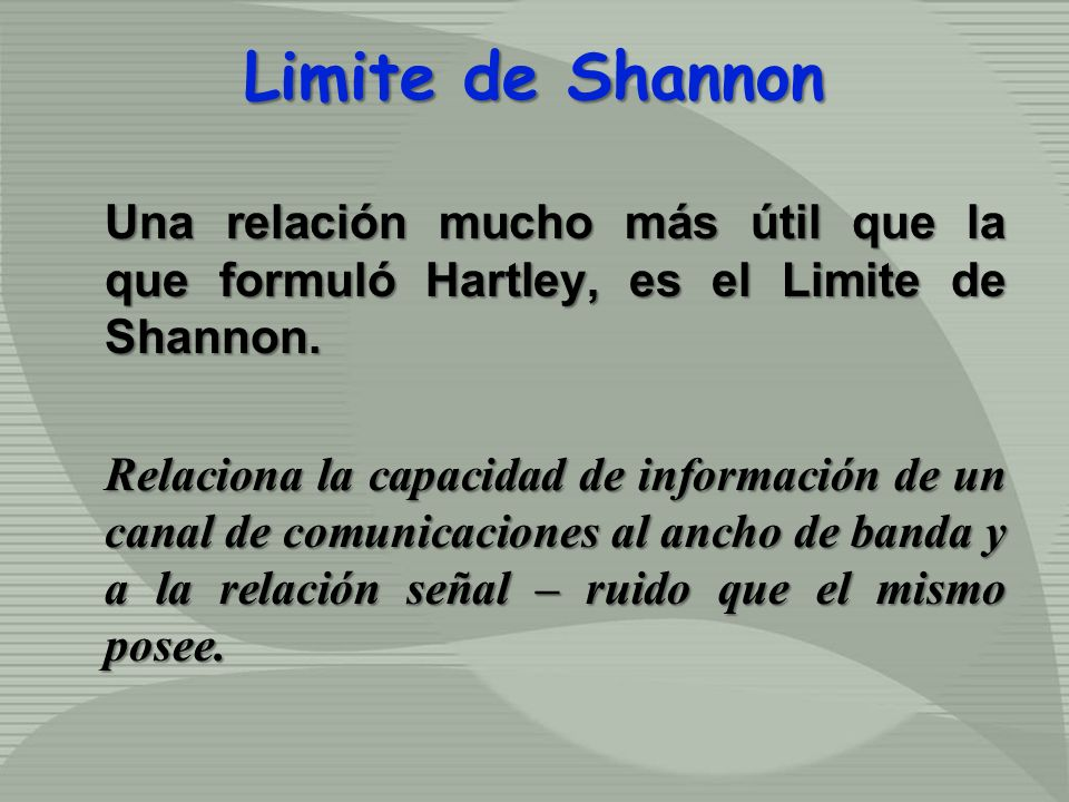 Limite de Shannon