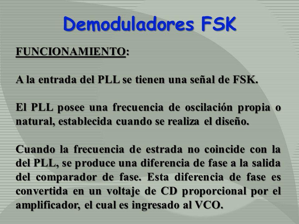 Demoduladores FSK FUNCIONAMIENTO: