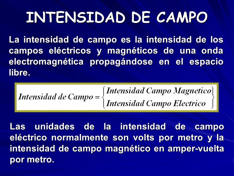 INTENSIDAD DE CAMPO