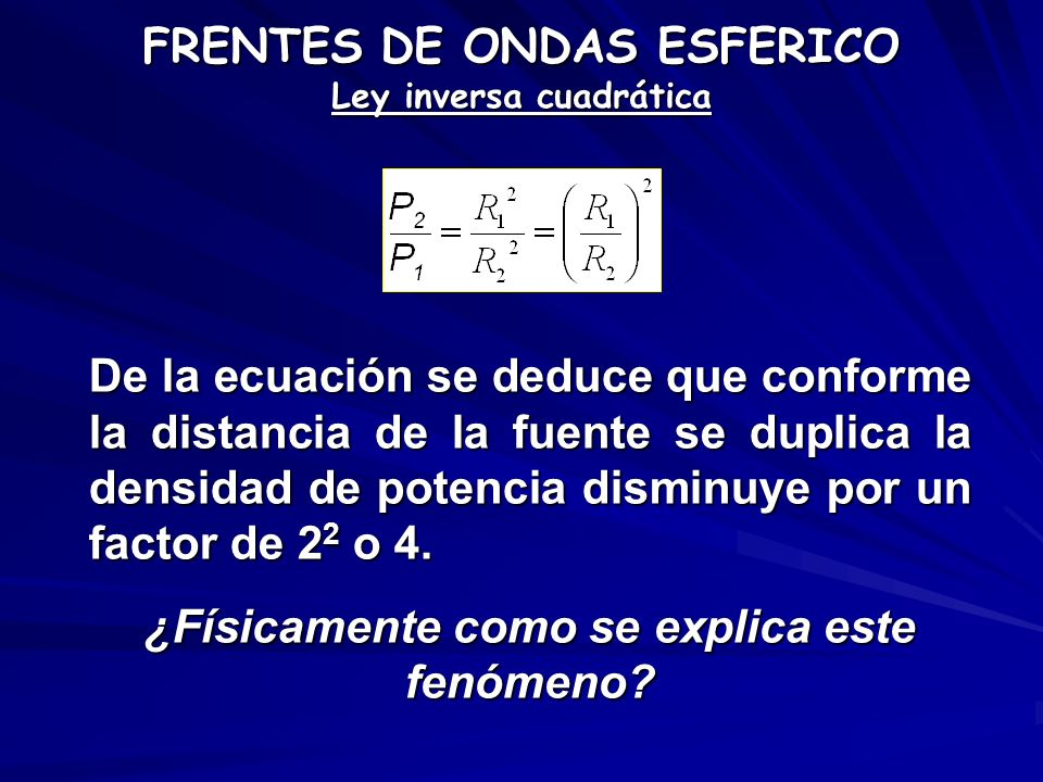 FRENTES DE ONDAS ESFERICO