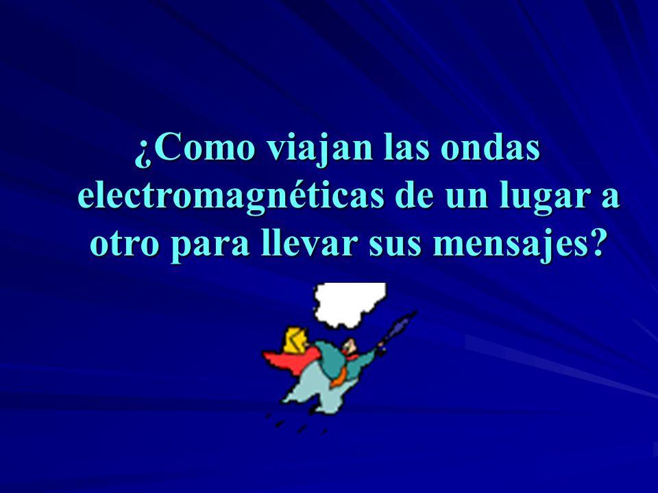 ¿Como viajan las ondas electromagnéticas de un lugar a otro para llevar sus mensajes