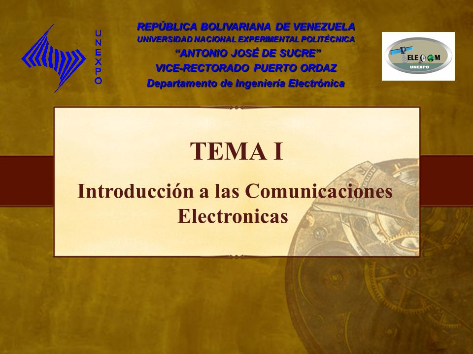 TEMA I Introducción a las Comunicaciones Electronicas
