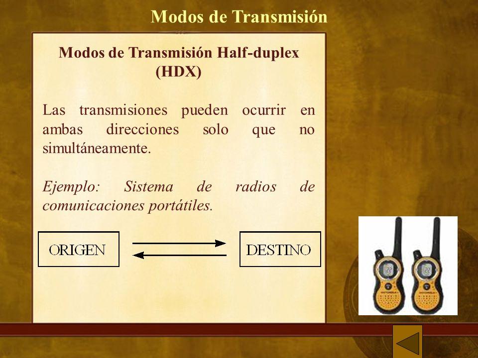 Modos de Transmisión Half-duplex (HDX)