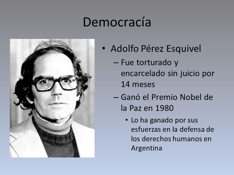 Democracía Adolfo Pérez Esquivel