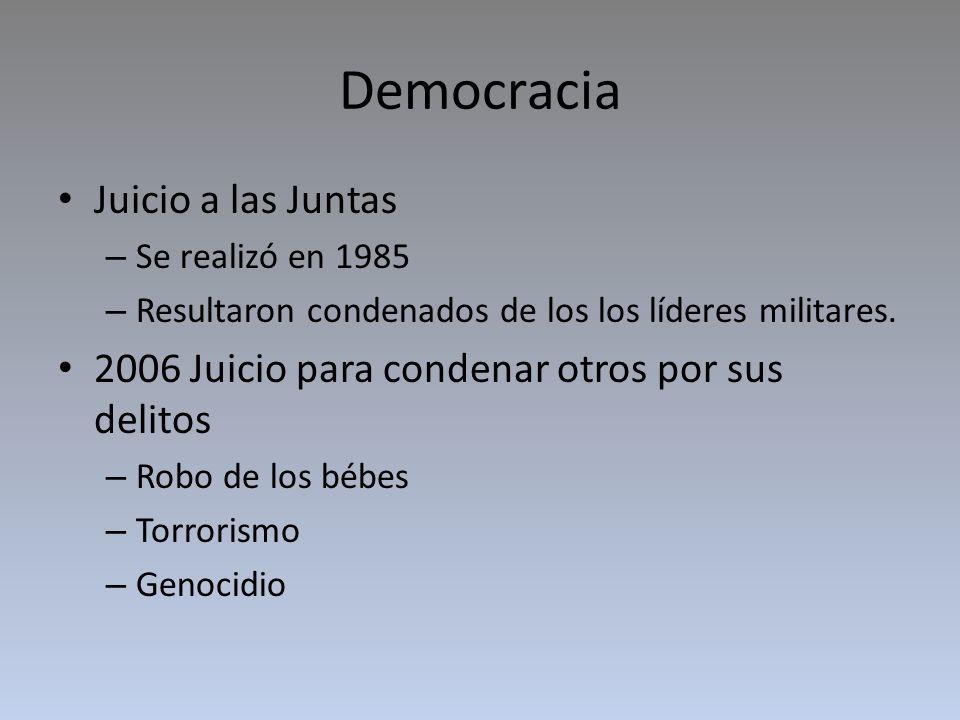 Democracia Juicio a las Juntas
