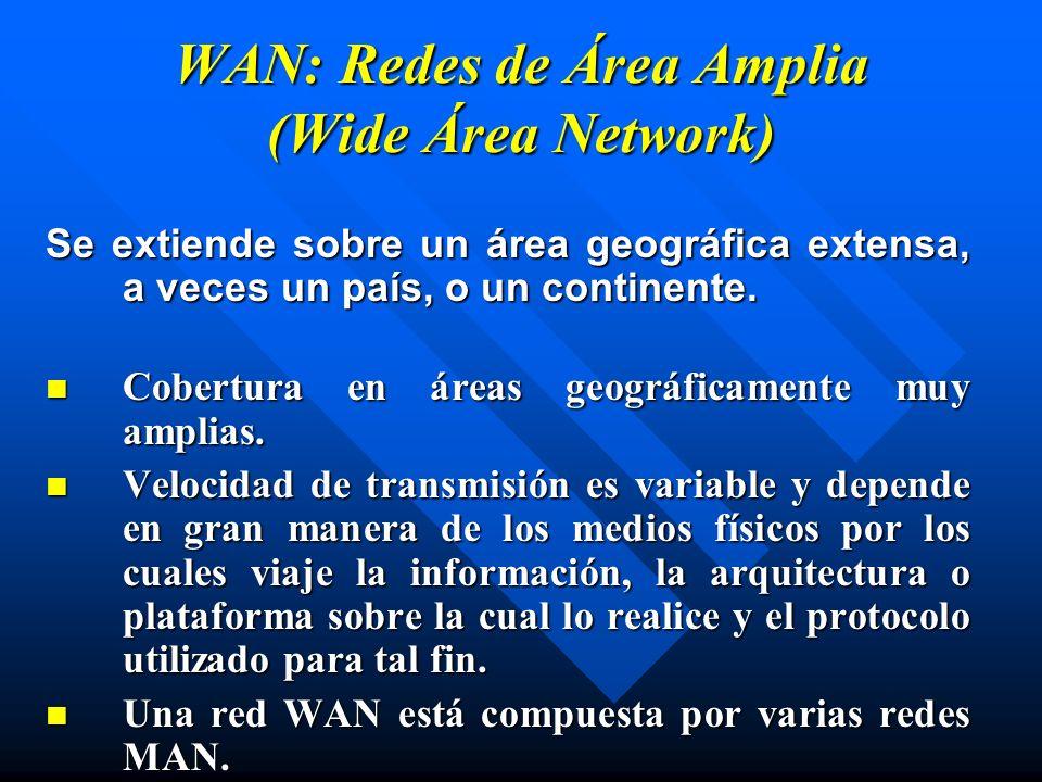 WAN: Redes de Área Amplia (Wide Área Network)