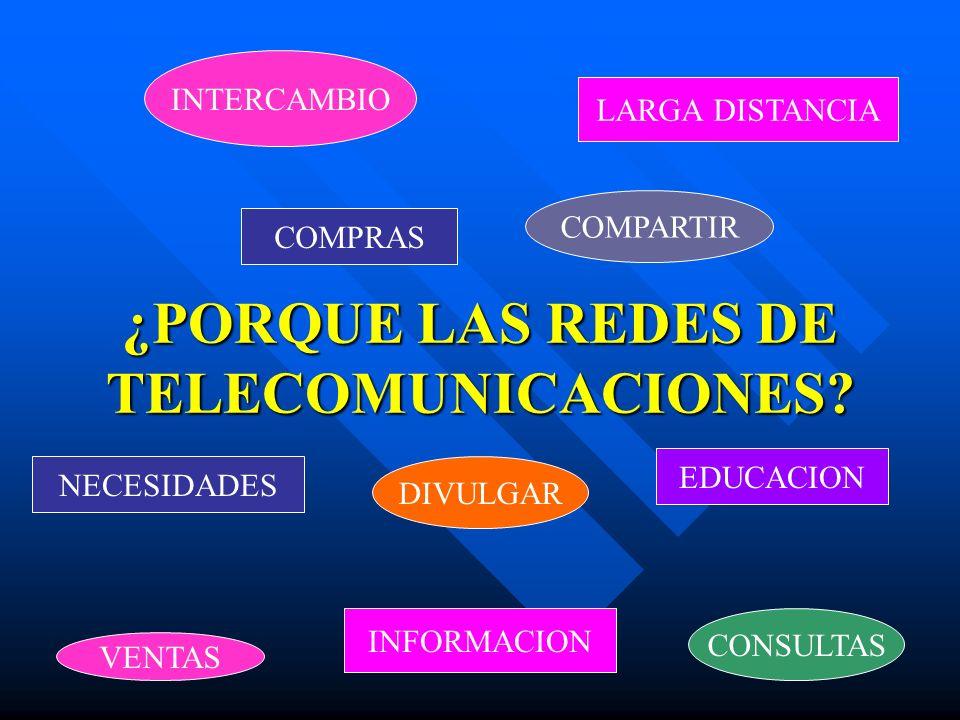 ¿PORQUE LAS REDES DE TELECOMUNICACIONES