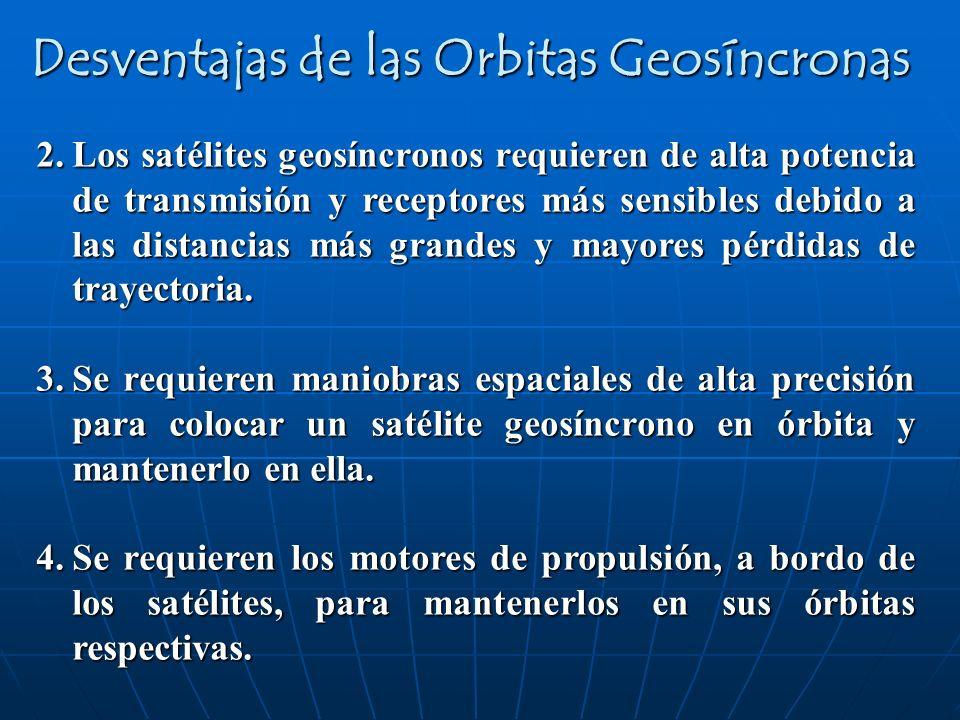 Desventajas de las Orbitas Geosíncronas