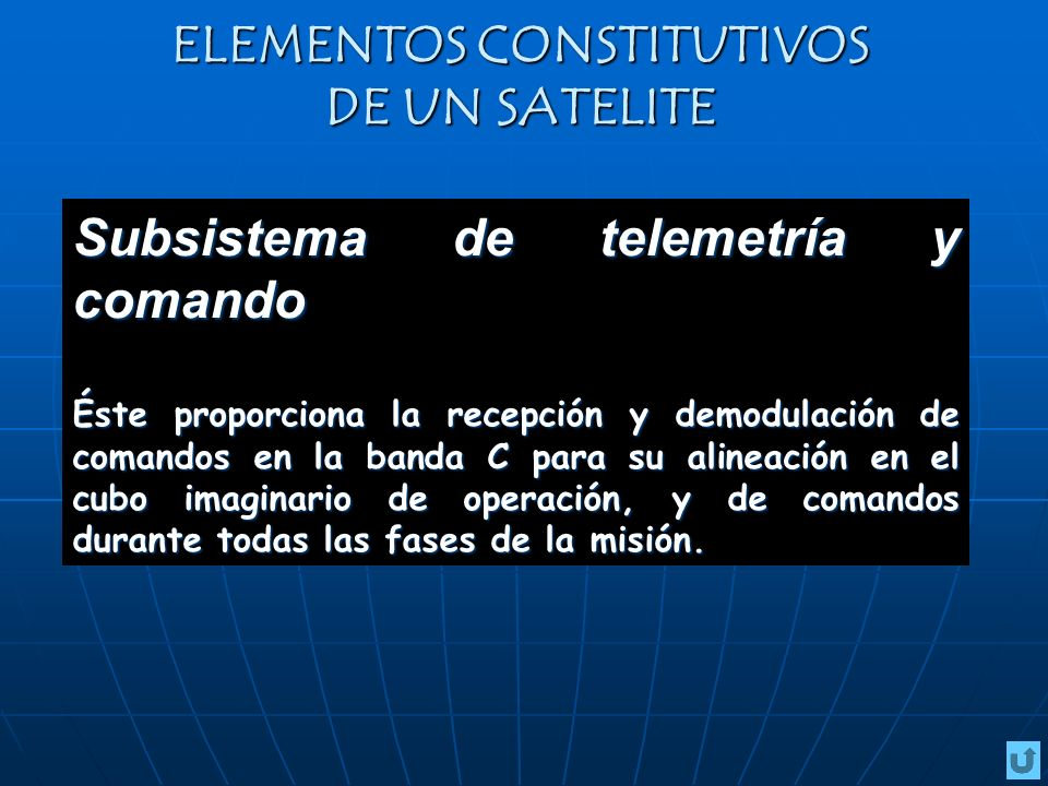 ELEMENTOS CONSTITUTIVOS DE UN SATELITE