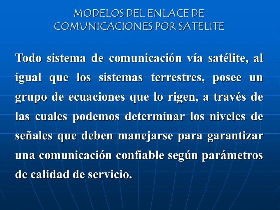 MODELOS DEL ENLACE DE COMUNICACIONES POR SATELITE