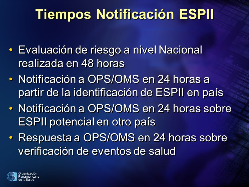 Tiempos Notificación ESPII