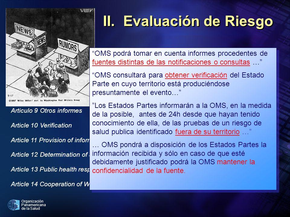 II. Evaluación de Riesgo