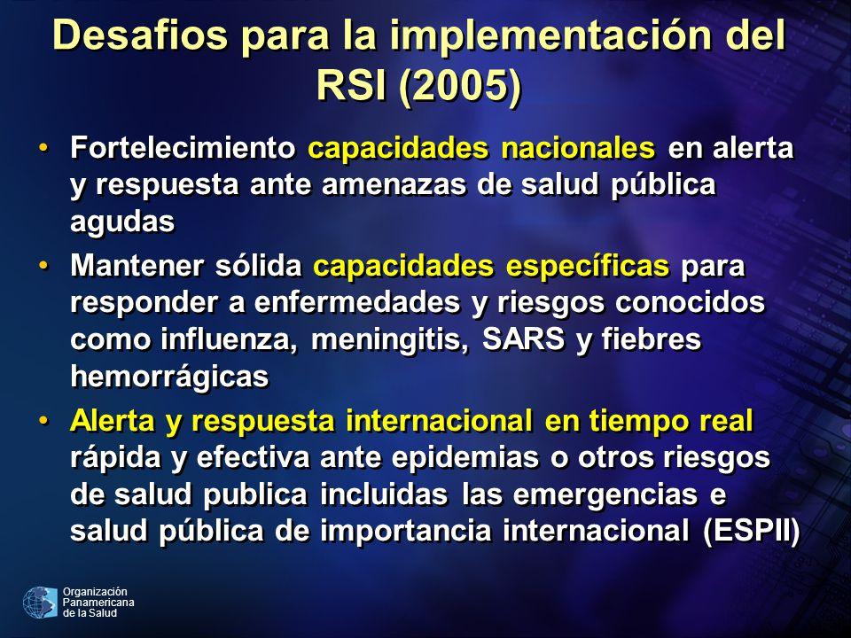 Desafios para la implementación del RSI (2005)