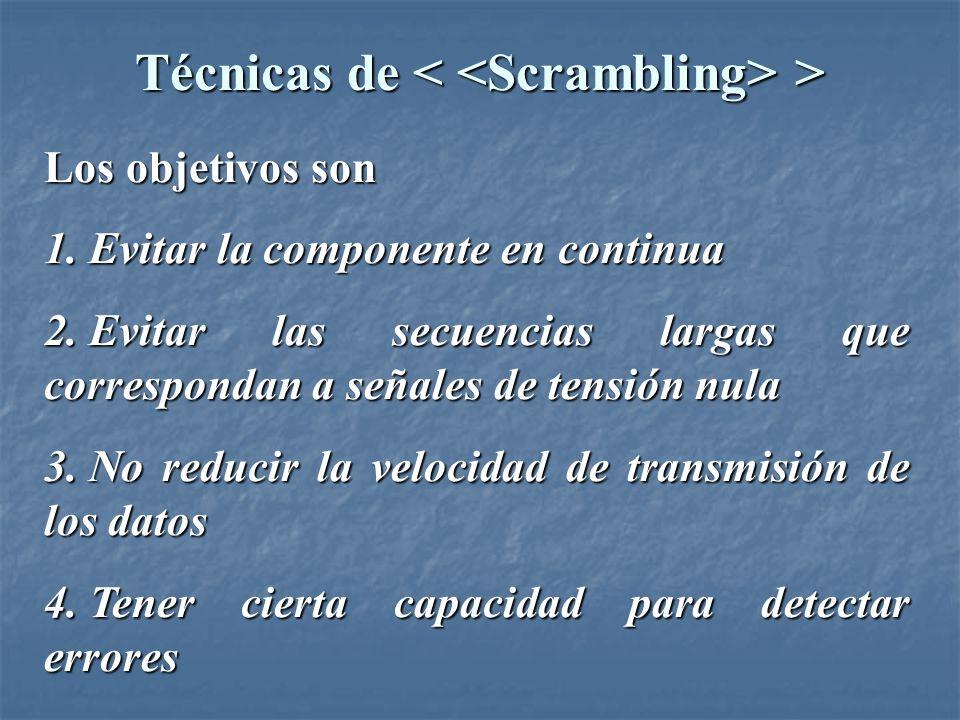 Técnicas de < <Scrambling> >