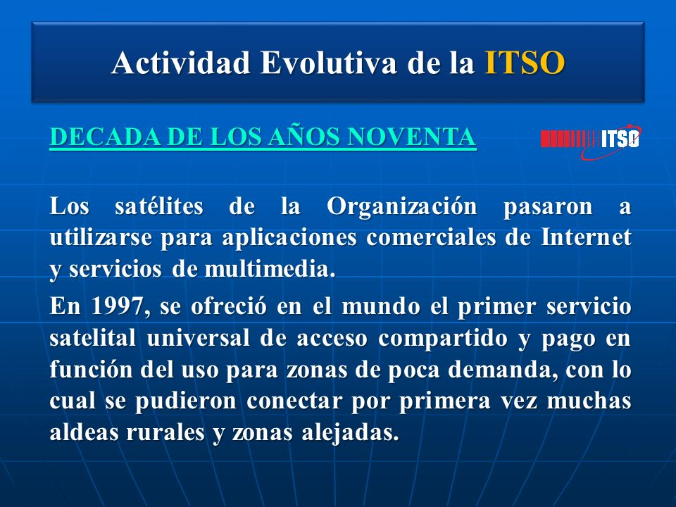 Actividad Evolutiva de la ITSO