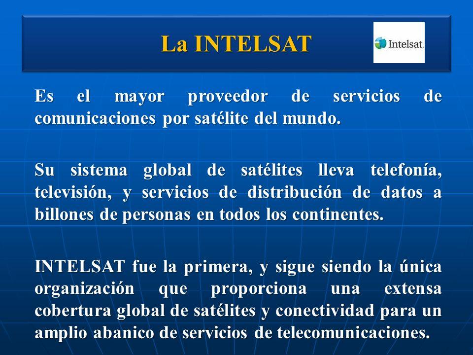 La INTELSAT Es el mayor proveedor de servicios de comunicaciones por satélite del mundo.