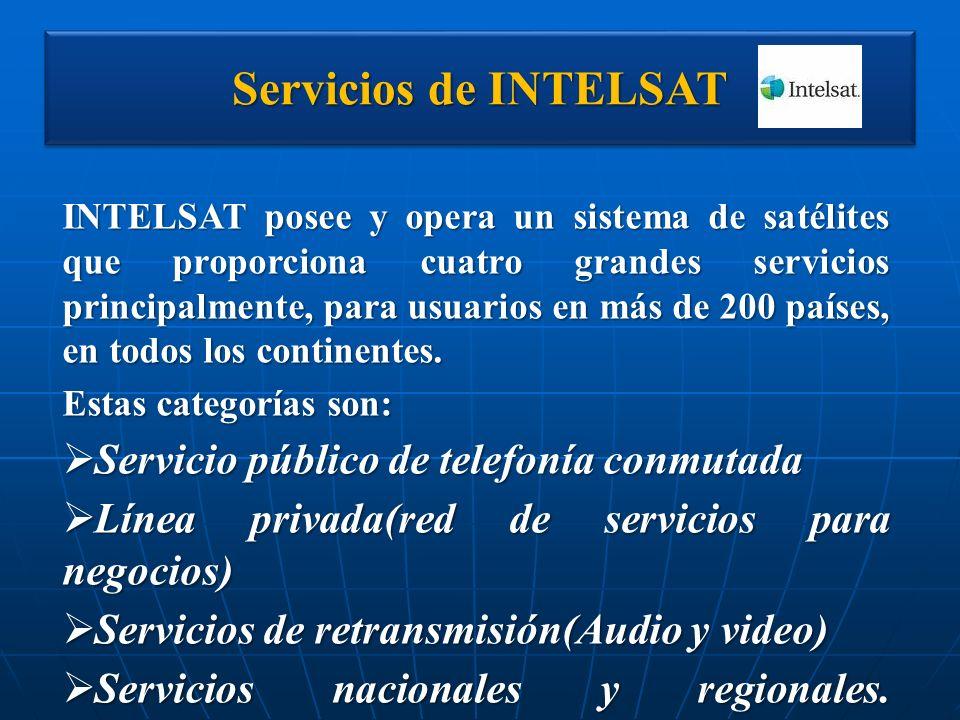 Servicios de INTELSAT Servicio público de telefonía conmutada