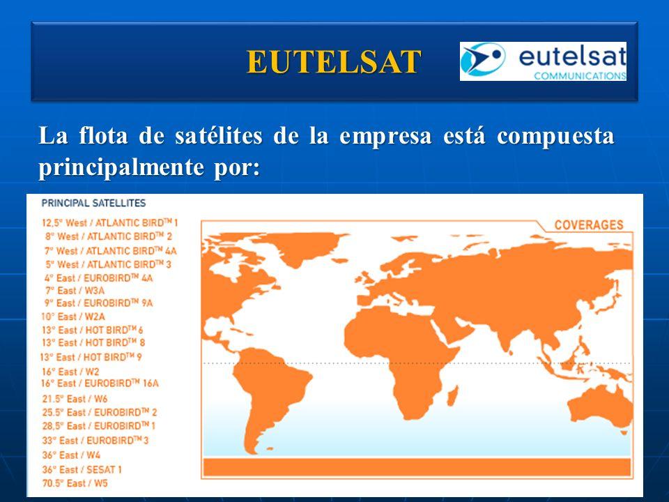 EUTELSAT La flota de satélites de la empresa está compuesta principalmente por: