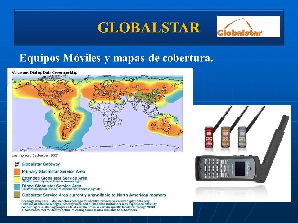 GLOBALSTAR Equipos Móviles y mapas de cobertura.