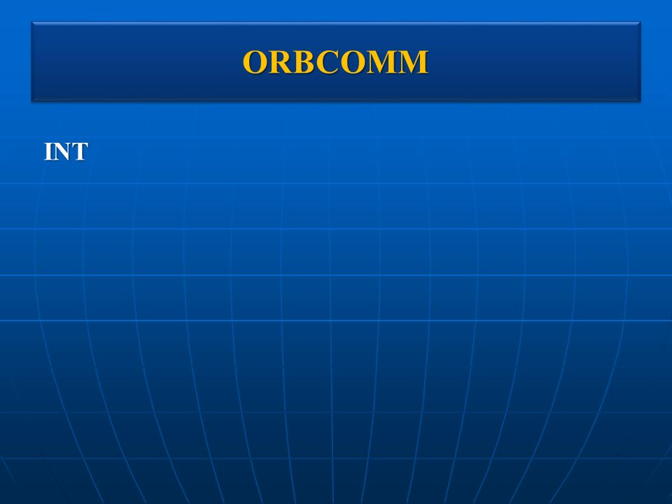 ORBCOMM INT