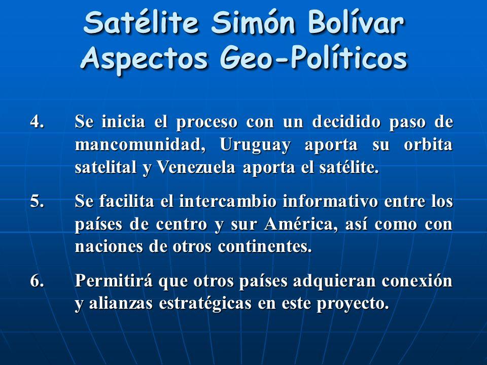Satélite Simón Bolívar Aspectos Geo-Políticos