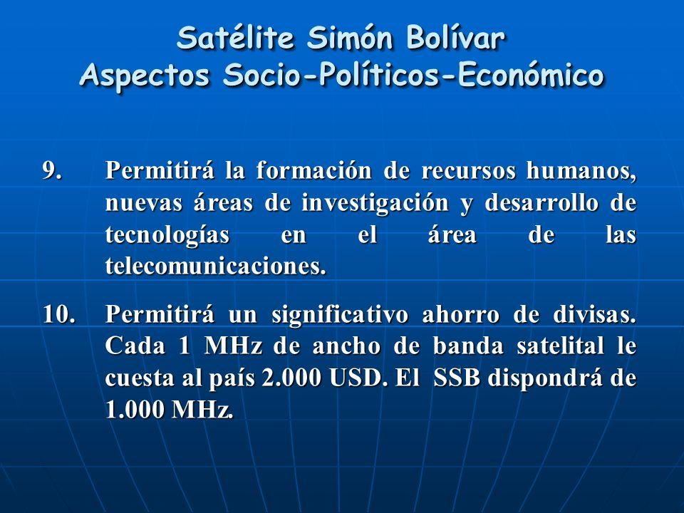 Satélite Simón Bolívar Aspectos Socio-Políticos-Económico