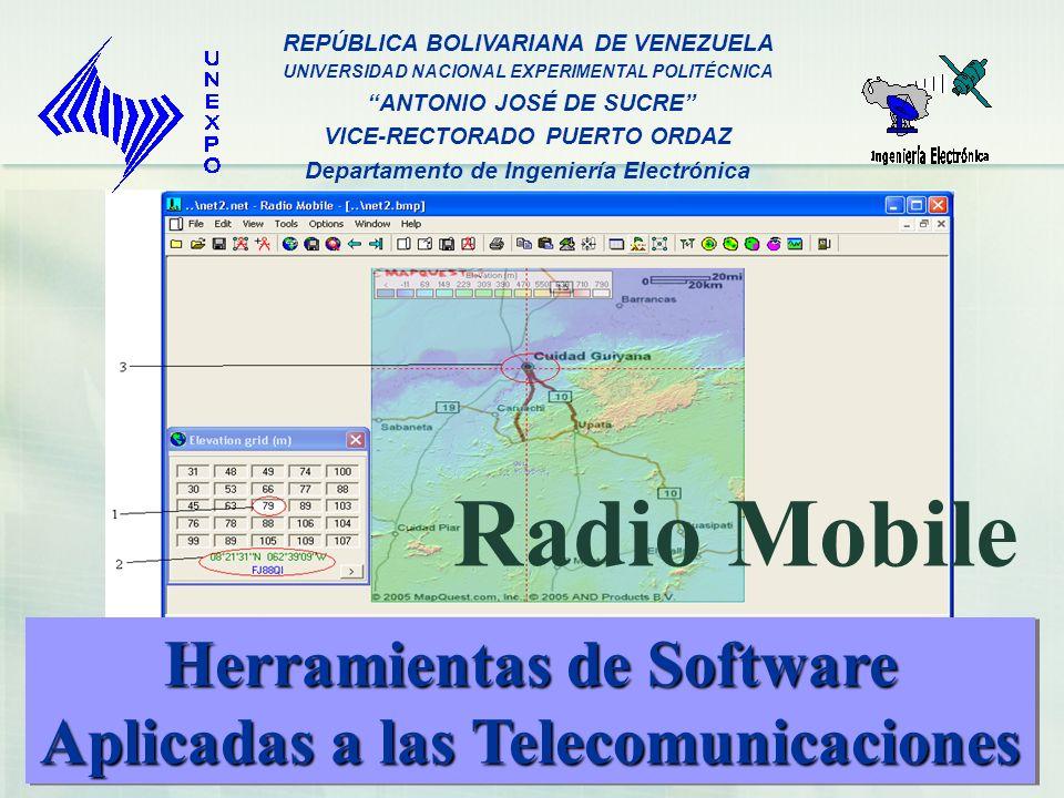 Radio Mobile Herramientas de Software