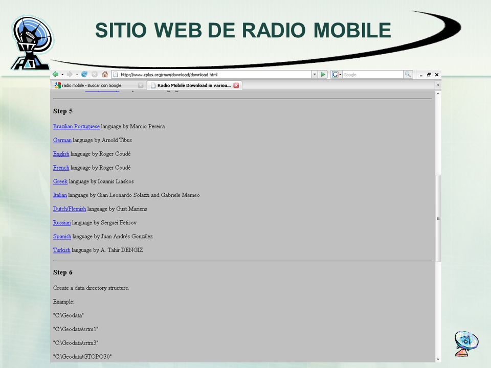 SITIO WEB DE RADIO MOBILE
