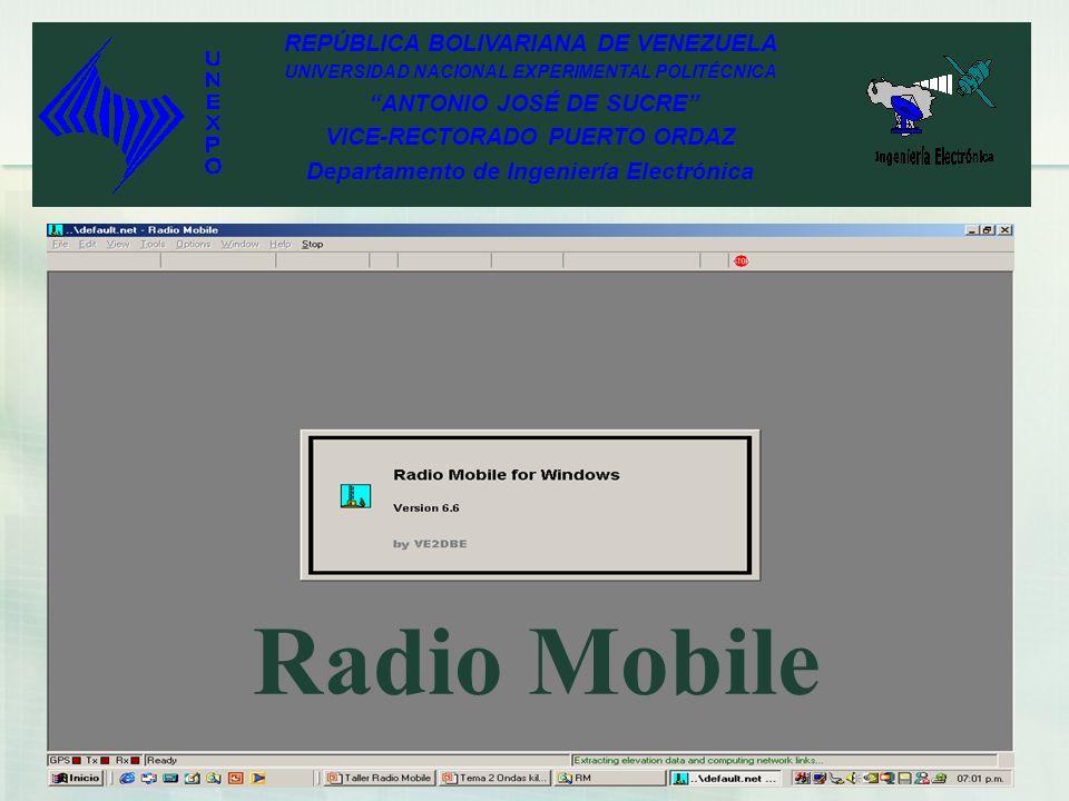 Radio Mobile REPÚBLICA BOLIVARIANA DE VENEZUELA