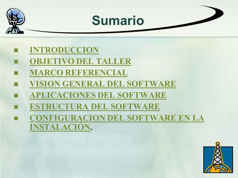 Sumario INTRODUCCION OBJETIVO DEL TALLER MARCO REFERENCIAL