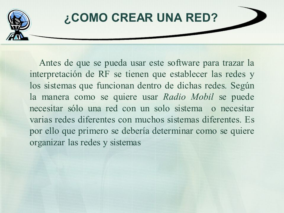 ¿COMO CREAR UNA RED