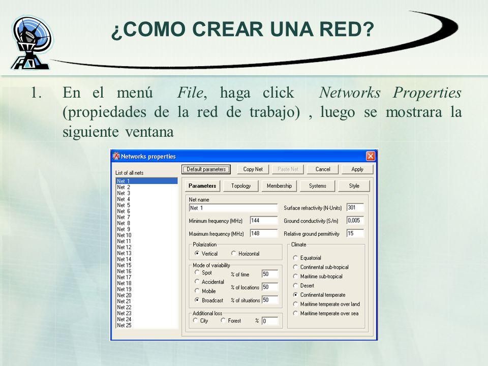 ¿COMO CREAR UNA RED.