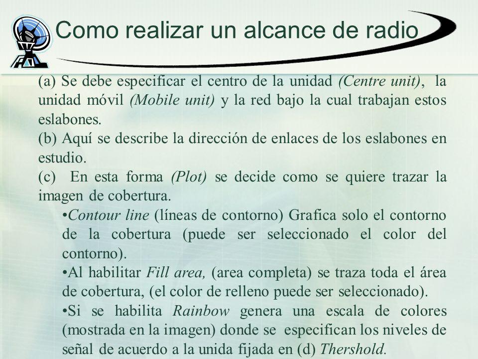 Como realizar un alcance de radio
