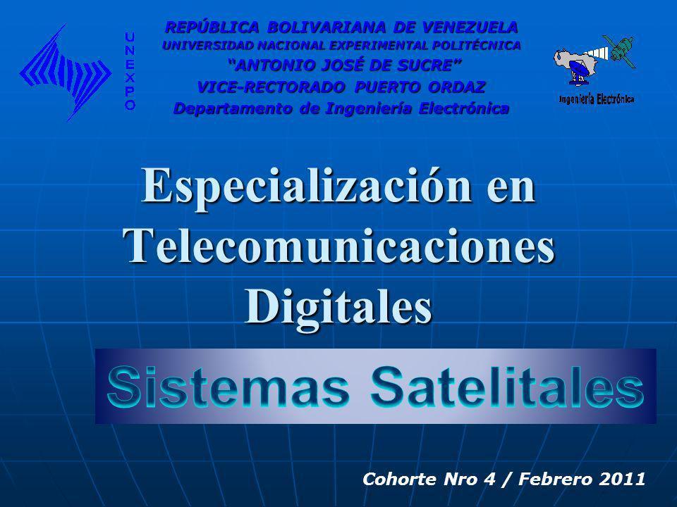 Especialización en Telecomunicaciones Digitales