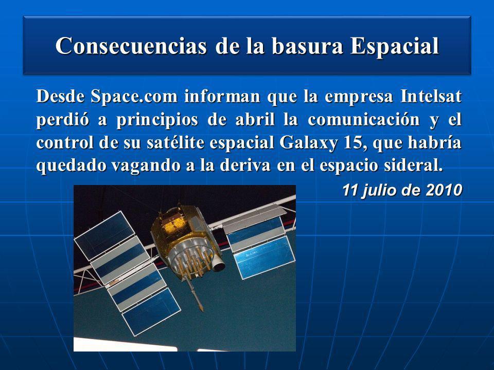 Consecuencias de la basura Espacial