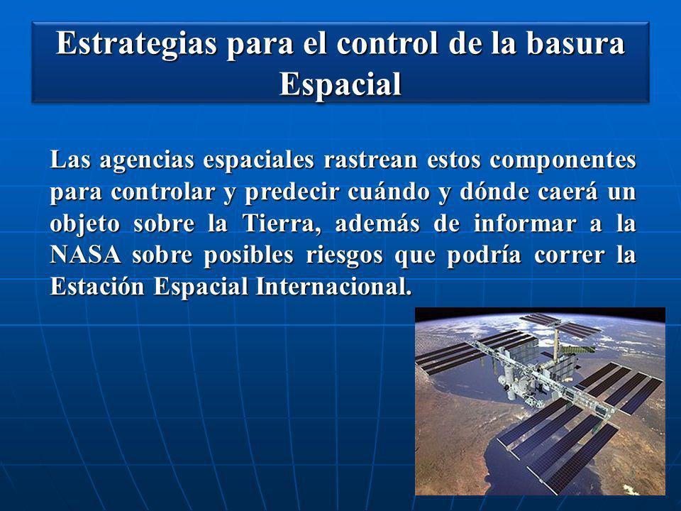 Estrategias para el control de la basura Espacial