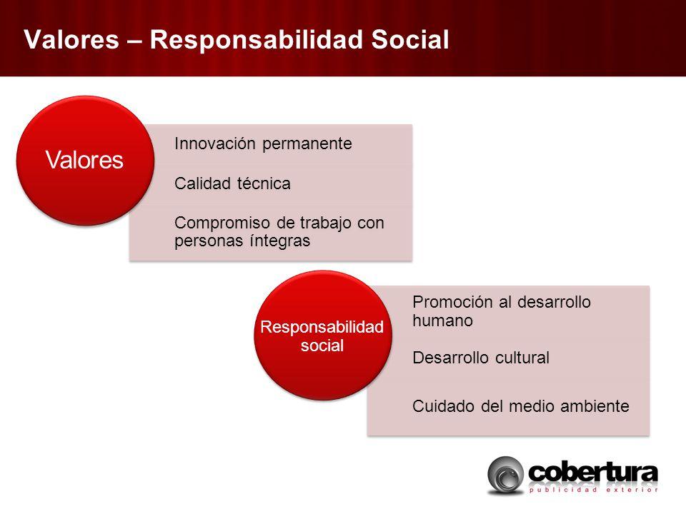 Valores – Responsabilidad Social