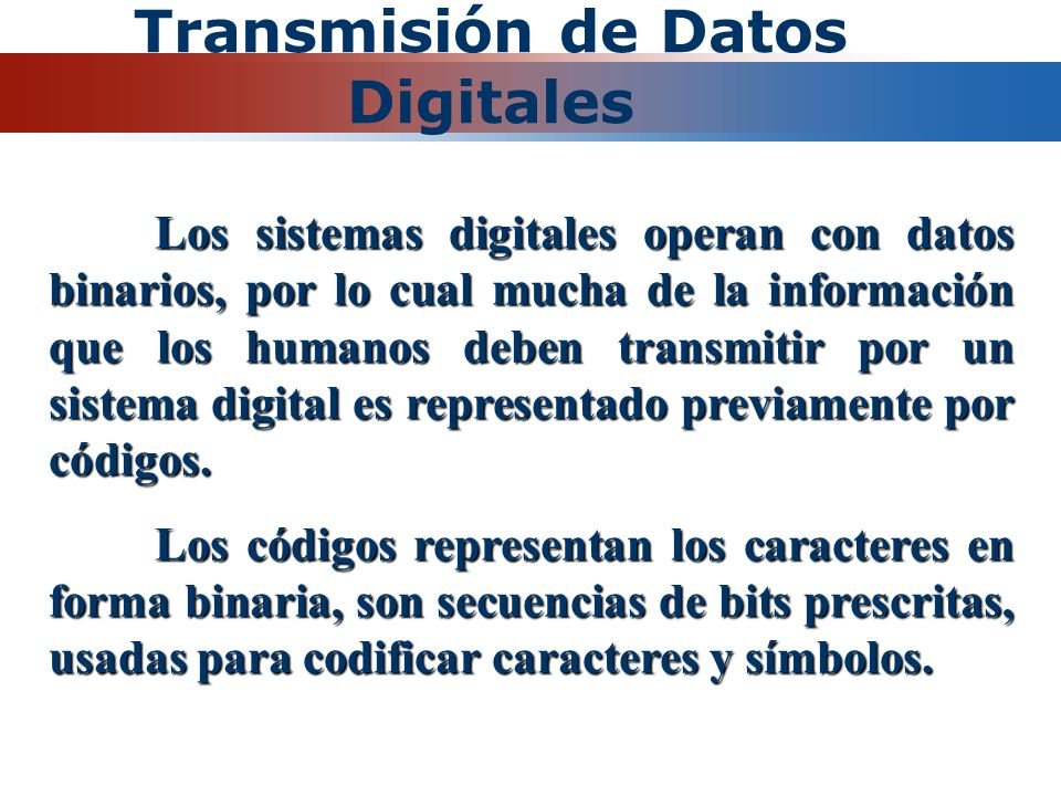 Transmisión de Datos Digitales