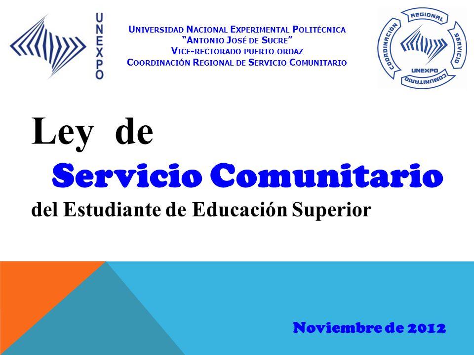 Coordinación Regional de Servicio Comunitario