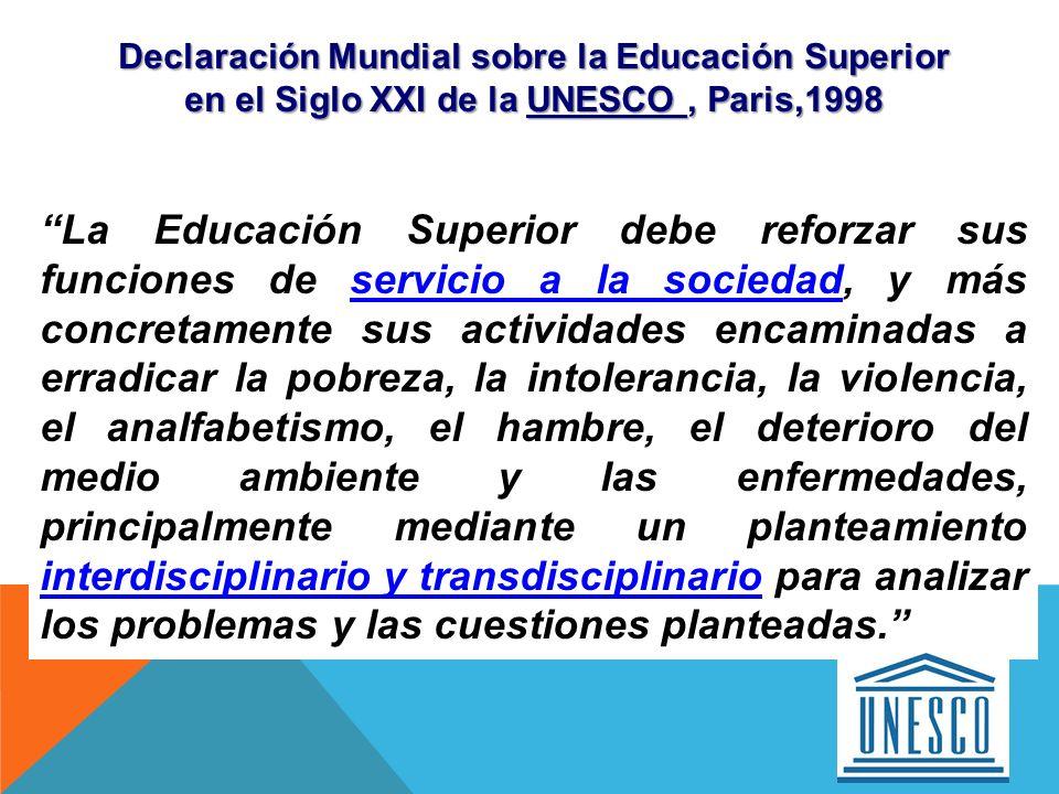 Declaración Mundial sobre la Educación Superior