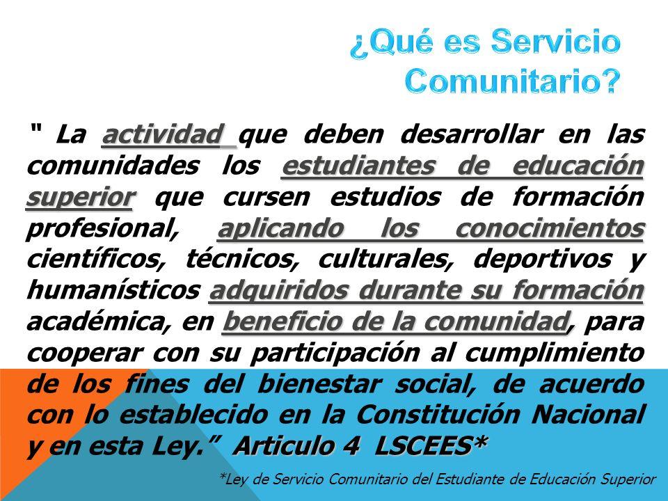 ¿Qué es Servicio Comunitario