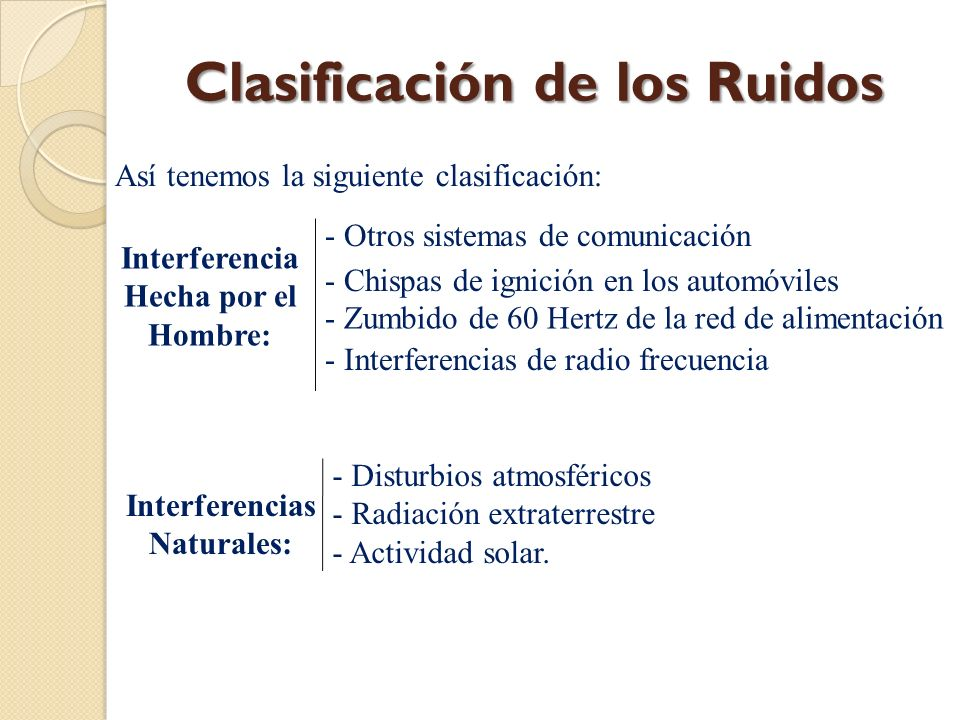 Interferencias Naturales: