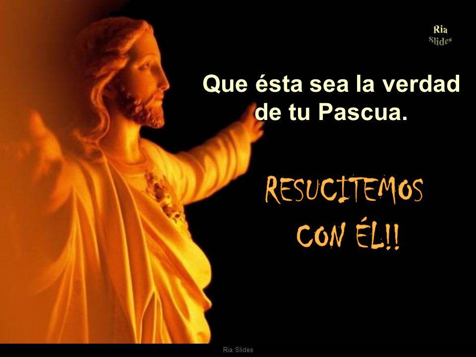 Que ésta sea la verdad de tu Pascua.