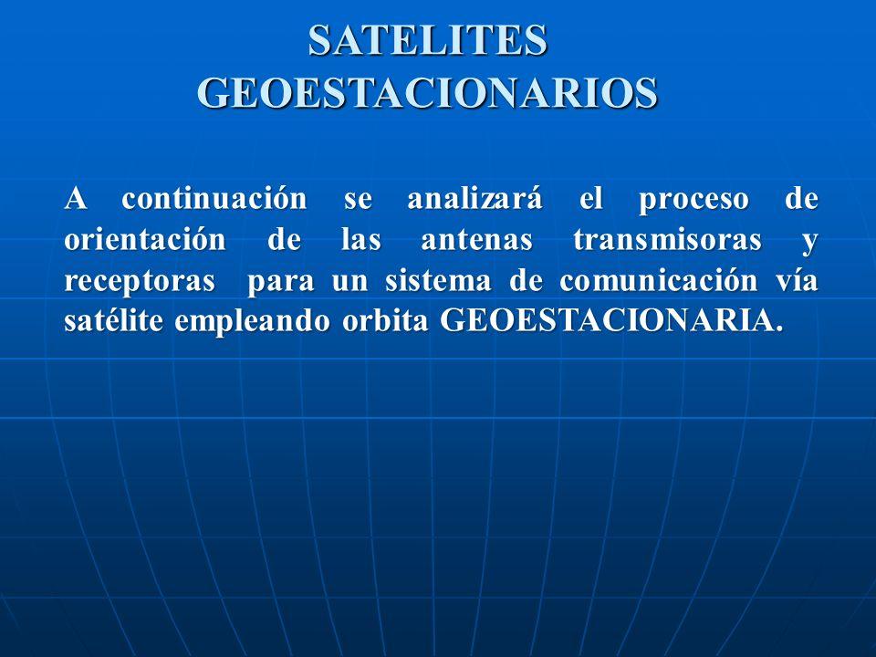 SATELITES GEOESTACIONARIOS