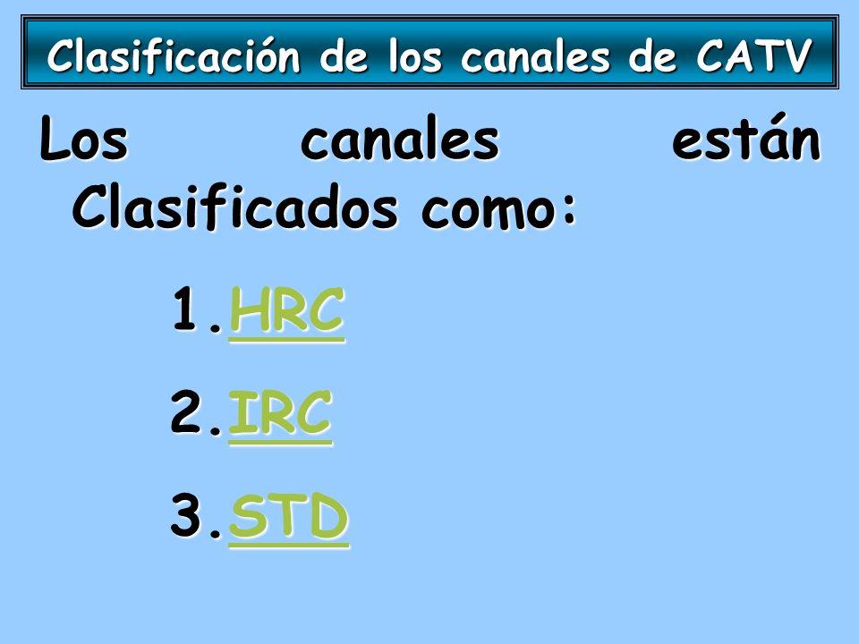Clasificación de los canales de CATV