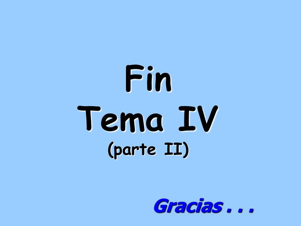 Fin Tema IV (parte II) Gracias . . .