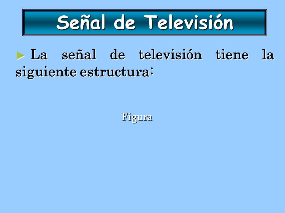 La señal de televisión tiene la siguiente estructura: