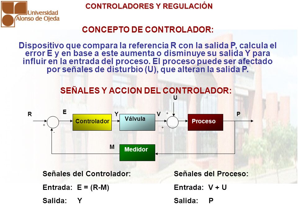CONCEPTO DE CONTROLADOR: SEÑALES Y ACCION DEL CONTROLADOR: