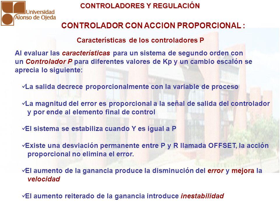 CONTROLADOR CON ACCION PROPORCIONAL :