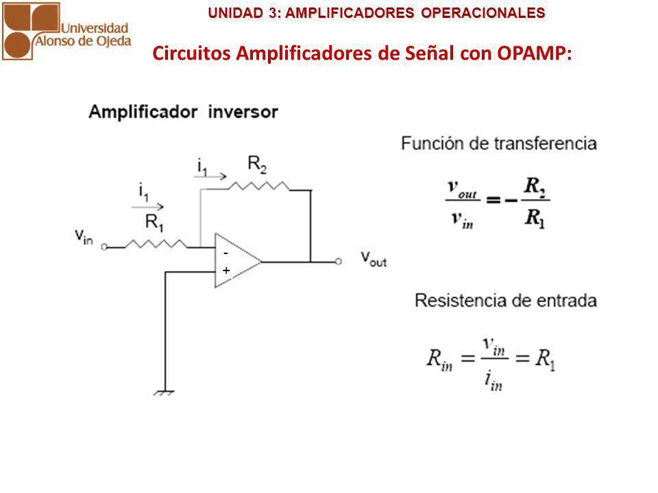 Circuitos Amplificadores de Señal con OPAMP: